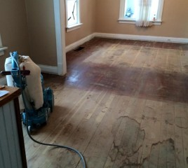 Refinishing a Floor (before)