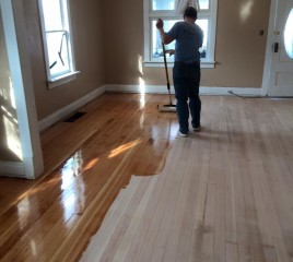 Refinishing a Floor (midway)
