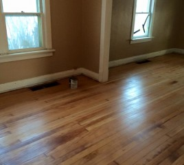 Refinishing a Floor (after)