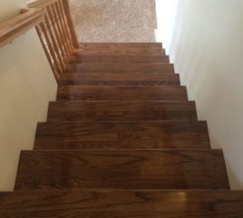 Red Oak Stairs with Dark Stain